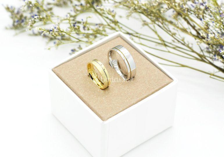 Alianzas Oro amarillo y blanco