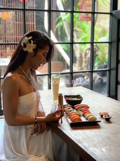 Maridaje de sushi