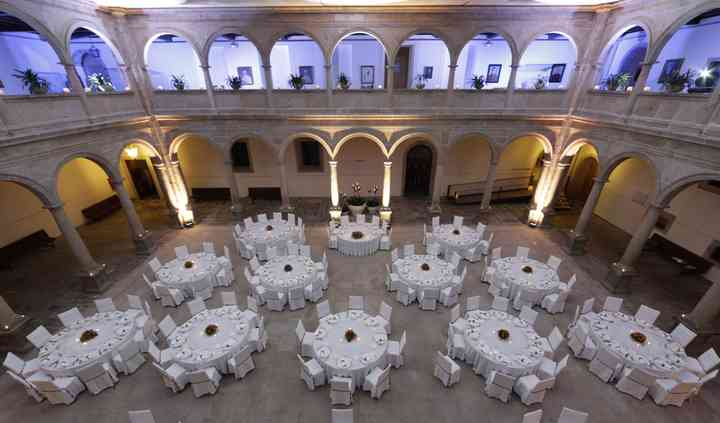 Banquete patio de cristal