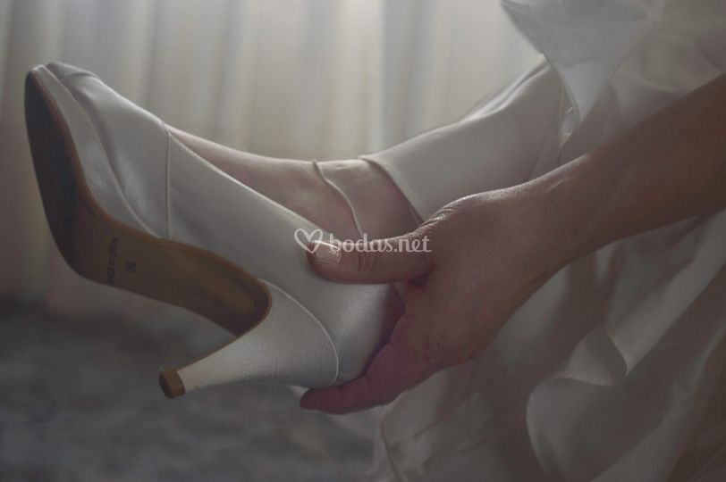 Novia zapatos