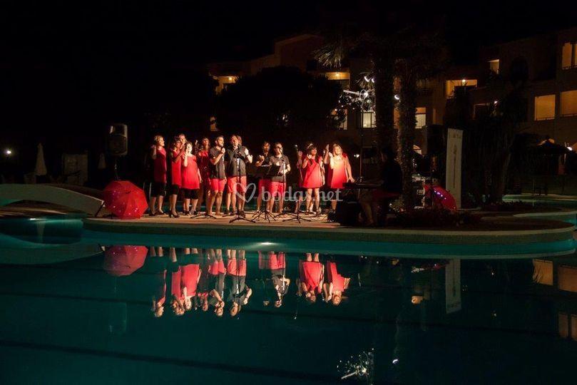 Actuación en el Hotel La Costa