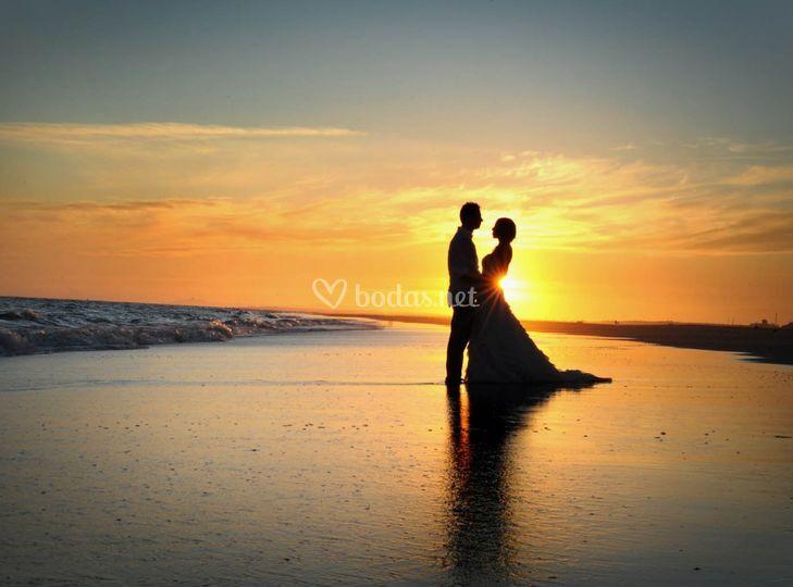 Contraluz boda