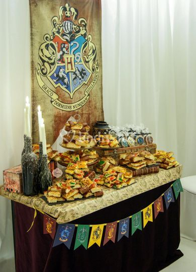 Mesa dulce boda Harry Potter