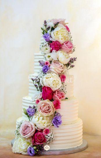 Tarta Cascada floral A&L