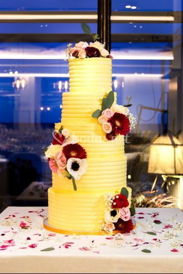 Tarta de boda layer de mango