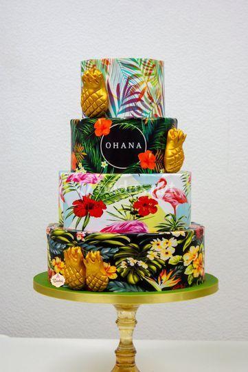 Tarta boda tropical