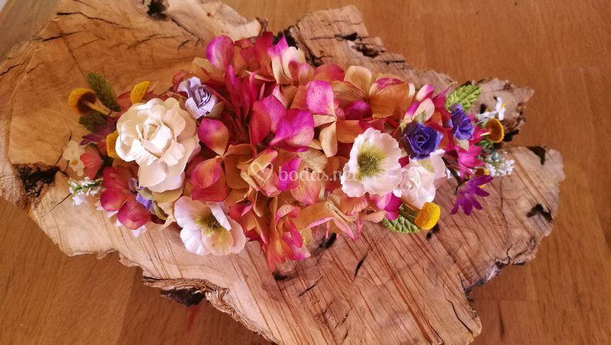 Peinas de flor preservada