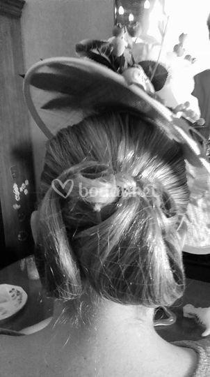 Peinado para tocado