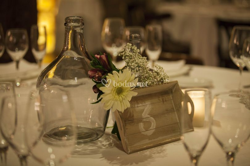 Decoración de mesas de La Portada de Mediodía Catering