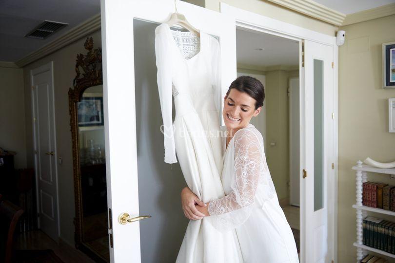 La novioa y su vestido