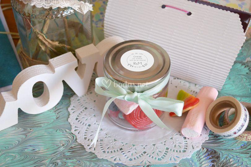 Detalles dulces para invitados