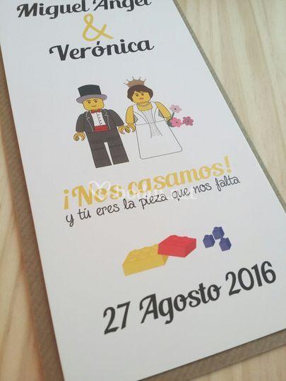 Invitaciones modelo lego