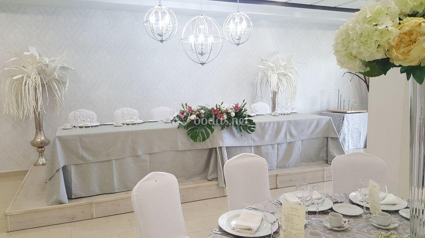 Salón de bodas mesa principal