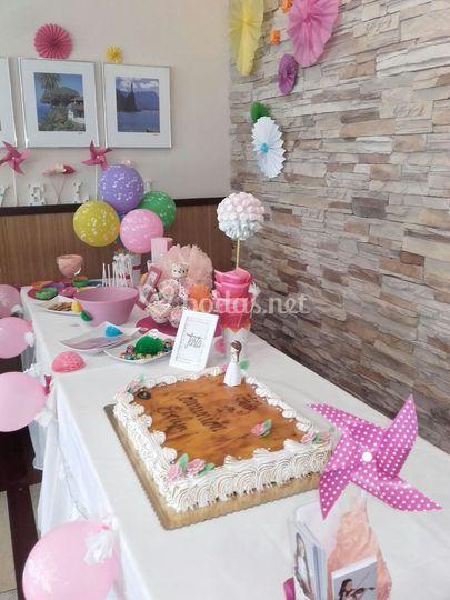 Mesa tarta/chuches comunión