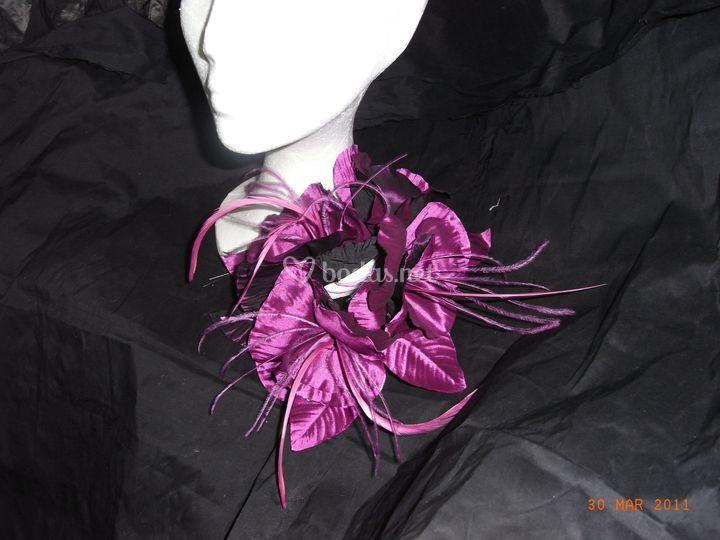 Flor con plumas