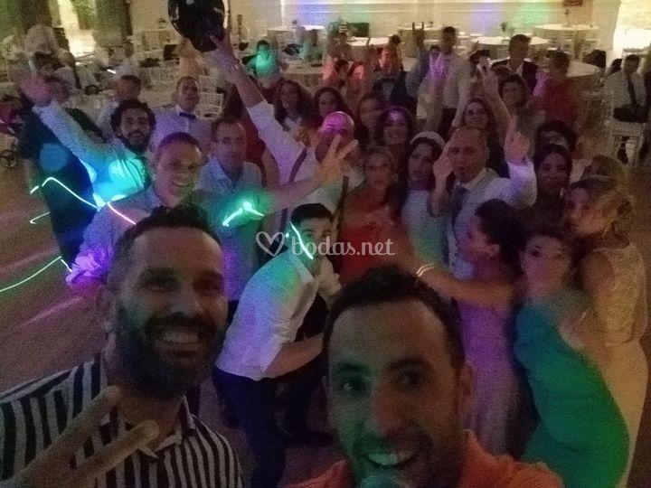 Selfie con los invitados