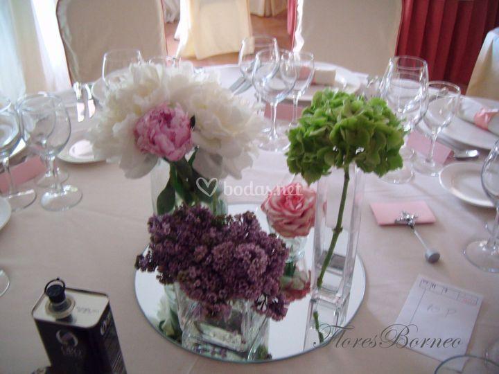 Flores para banquete