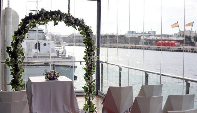 Ceremonia en el balcón