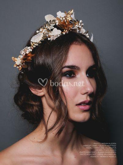 Maquillaje y recogido de novia