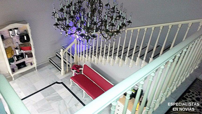 Escalera del vestidor