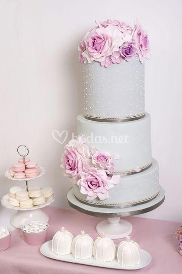 Tarta boda romántica