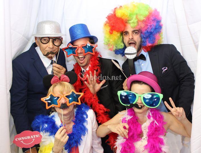 Fotomaton fiestas y photocall