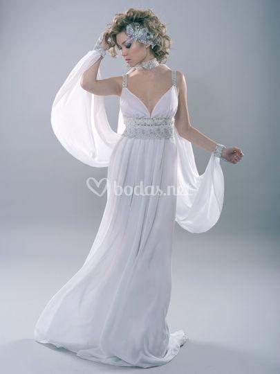 Vestido de novia de fantasía