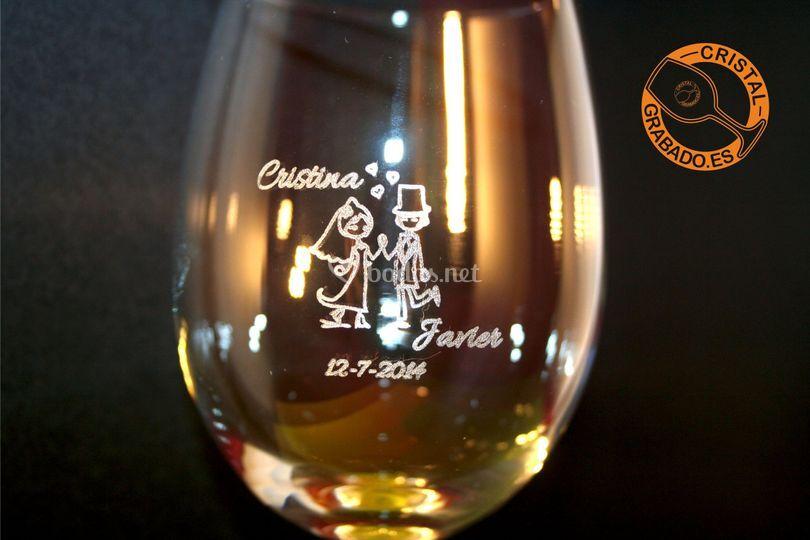 Copa vino personalizada