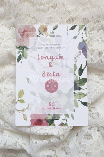 Invitación de boda J&B