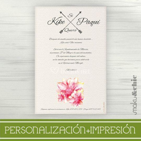 Invitación Acuarela 3