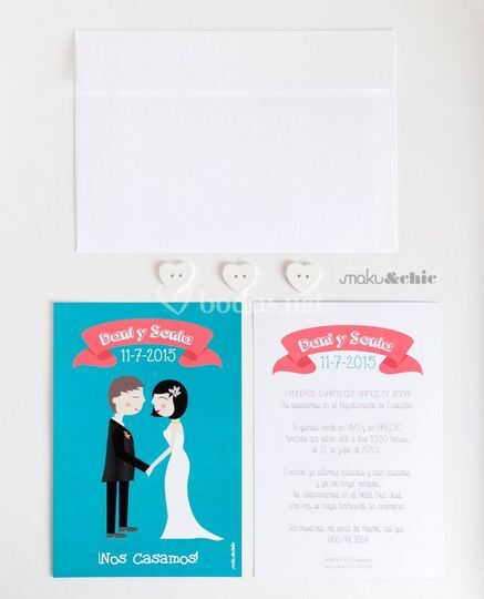 Ejemplo impreso Invitación
