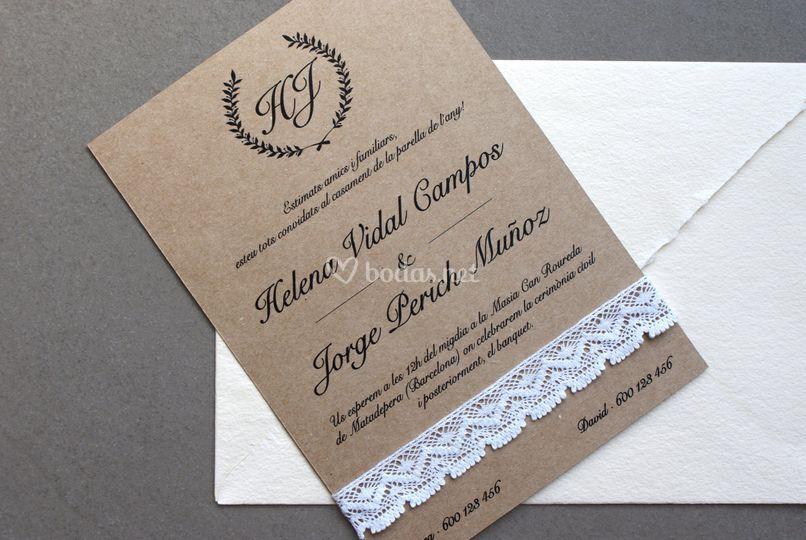 Invitación Encaje