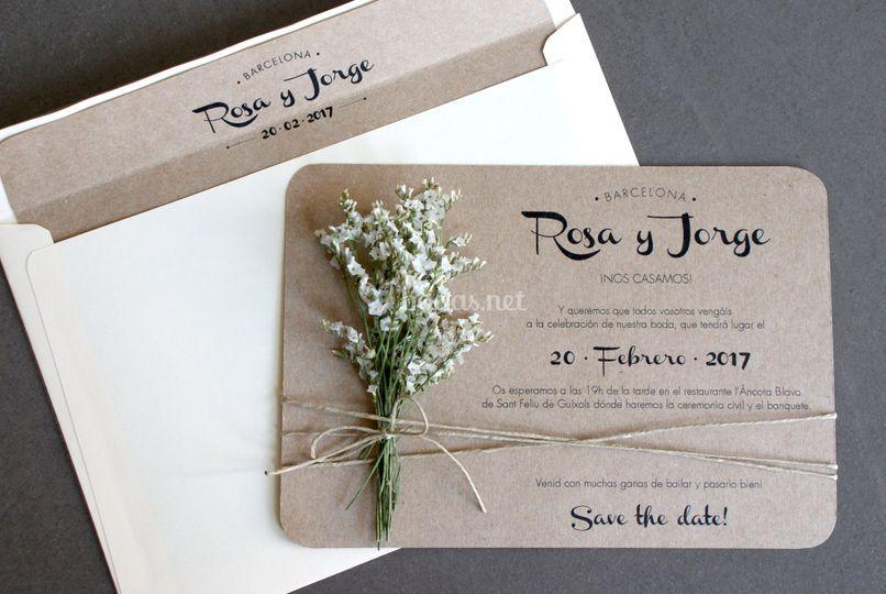 Invitación de Flores Blancas