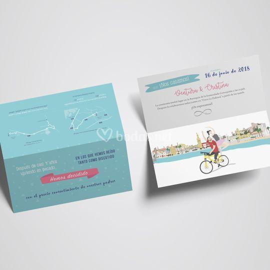 Invitación con ilustración