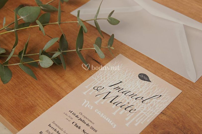 Invitación Leaf