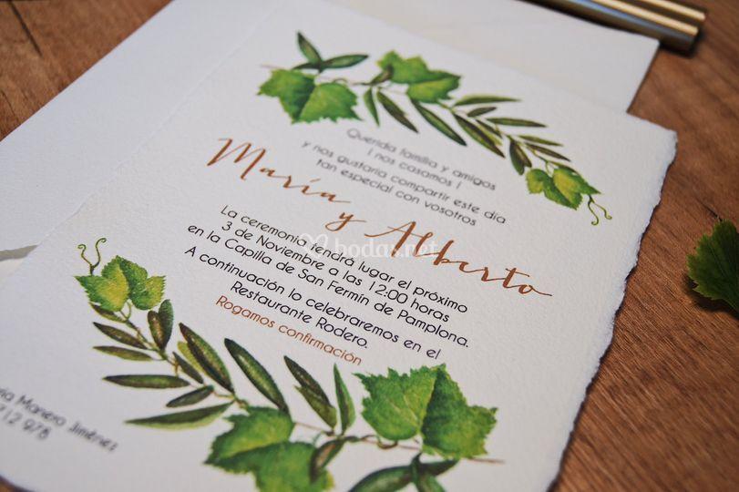 Invitación Botanical