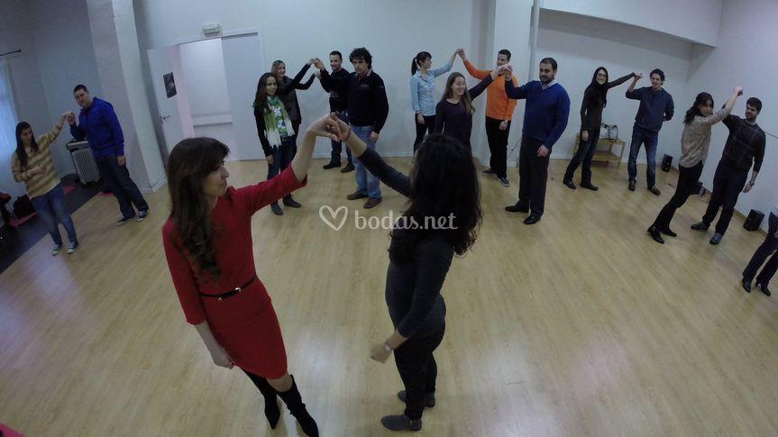 Clase de baile novios