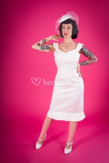 Vestido novia pin up