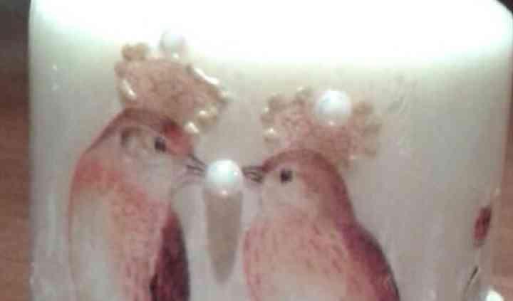 Vela con pájaros