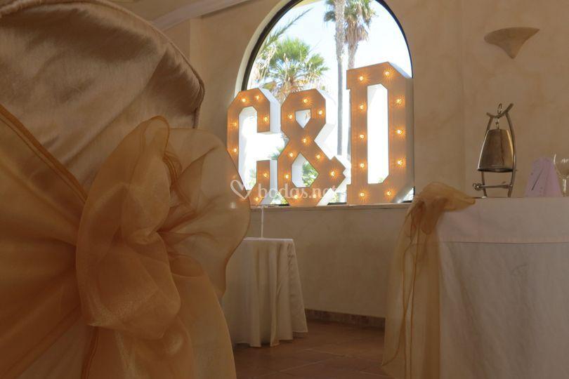 Letras para decorar el banquete