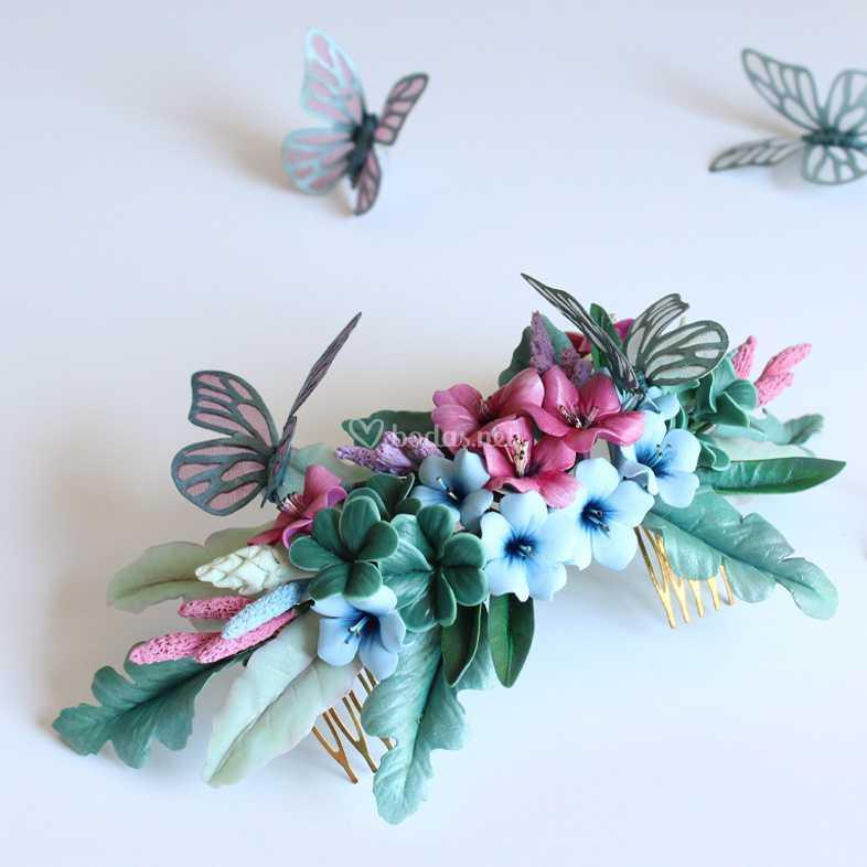Tocado de mariposas