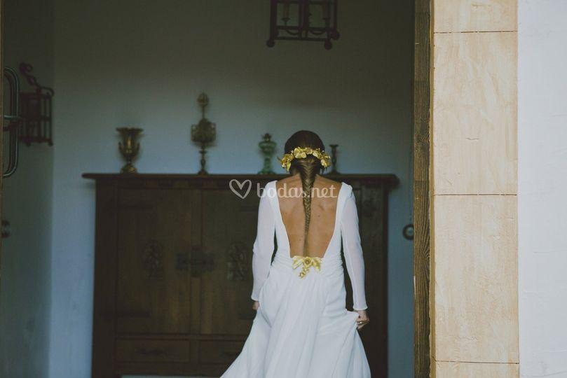 Complementos dorados novia