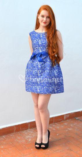 Exclusivo adamascado azul