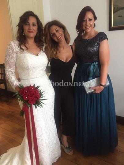 Maquillaje y peluquería de novias e invitada