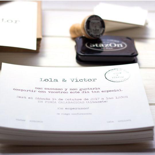 Invitación Máquina Escribir