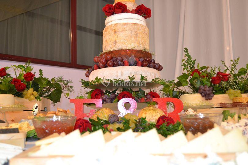 Mesa con tarta