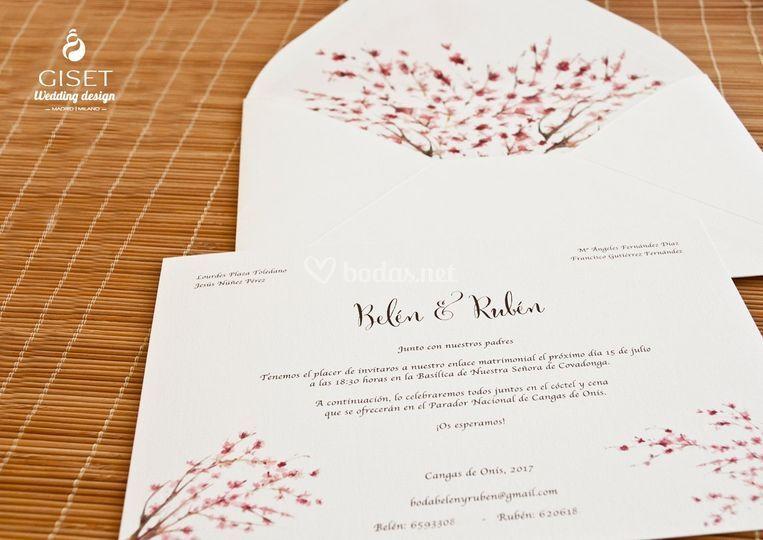 Invitaciones estilo japonés