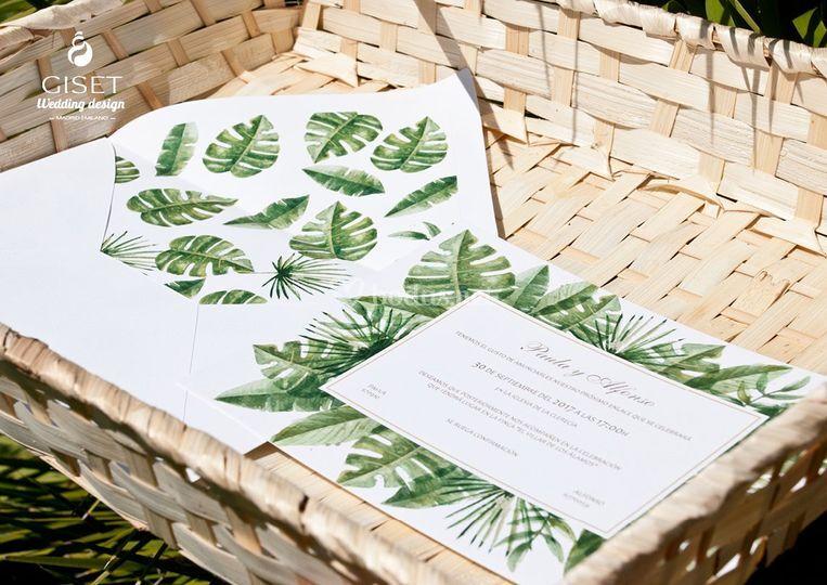 Invitaciones vegetal