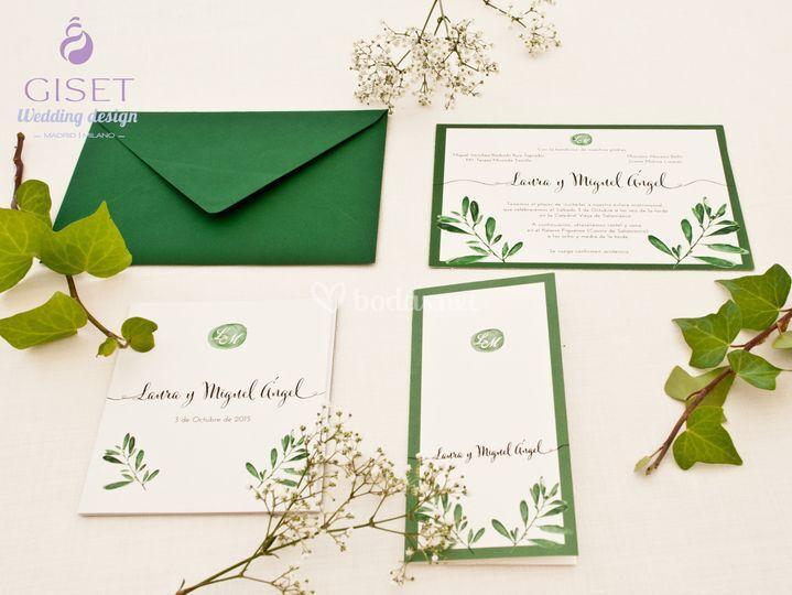 Invitaciones boda elegantes