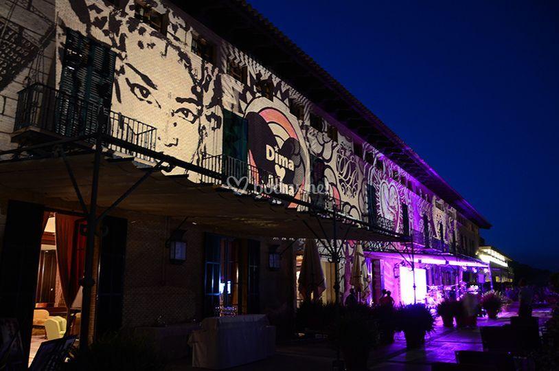 Iluminación de fachada